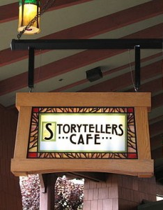 Storyteller's Cafe sign