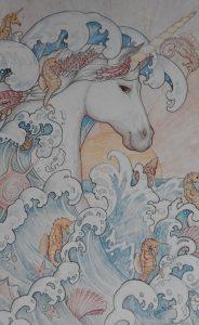 Sea Unicorn by Brett. Card by Sunrise Publications Inc.